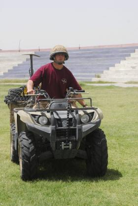 Quad bike in use by 3 PARA, Kandahar, Afghanistan, July 2008