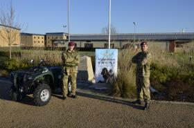 Quad bike purchased by the Afghan Trust for 2 PARA soldier, November 2012.