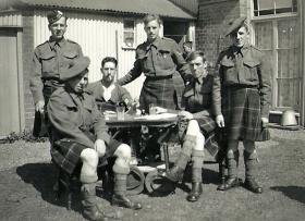Members of The Queen's Own Cameron Highlanders, Bawdsey, 1941.