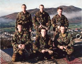 Members of 2 PARA, R23, Forkhill, South Armagh, November 1996.