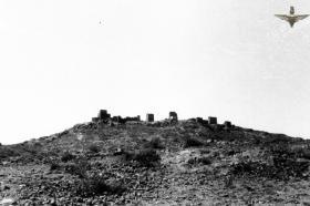 View of a hilltop, Radfan, 1957