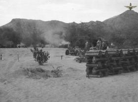 33rd Parachute Light Regiment RA firing in support of operations in the Radfan, 1957