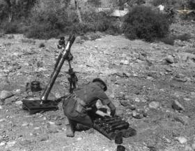 3 inch mortar, 33rd Para Light Regt RA, Radfan/Aden c1957