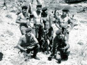 Members of Anti- tank Platoon, 3 PARA, Radfan, 1964.