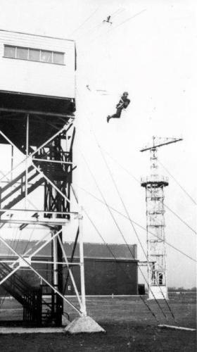 Jump Tower at RAF Abingdon, 1960s.