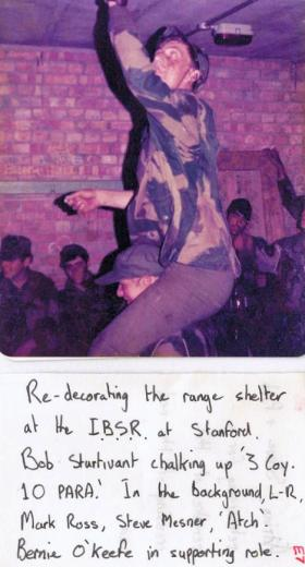Pte Bob Sturtivant on range training, Stanford 1978.