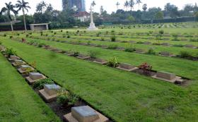 Rangoon War Cemetery, October 2014.