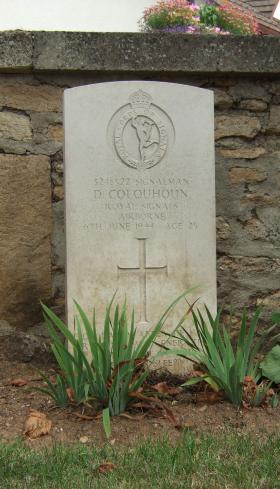 Headstone of Sigmn D Colquhoun, Ranville Churchyard, August 2010.