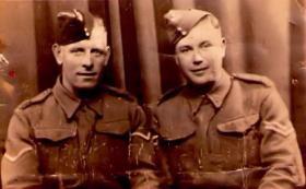 Al ? and William (Bill) Burns 25 April 1941