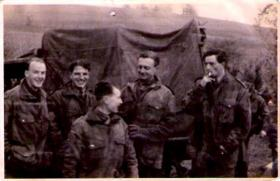 Members of 8th (Midland Counties) Parachute Battalion, Tilshead, circa 1944.
