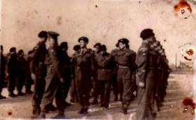 Inspection (possibly HQ Company 8th Battalion) 30 November 1945
