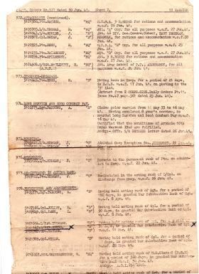 Orders Extracts 13 Bn Royal Warwicks Regt 1941