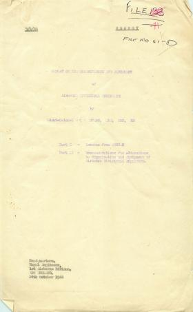 Report on organisation and equipment of airborne divisional engineers.