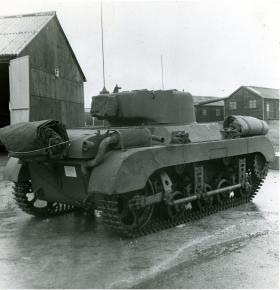 Rear view of M22 Locust Airborne Tank, c.1944