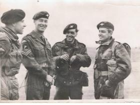 Corporal McArthur taken during the filming of The Red Beret