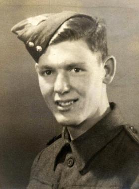 Private Reginald Foley, the Royal Berkshire Regiment, 1943.