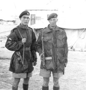 Reggie Dickinson and David Goodall at El Ballah, 1956.