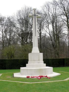 The Cross of Sacrifice at Reichswald Forest War Cemetery, Germany, 2010
