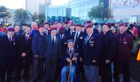 Airborne veterans, Remembrance Day, Bradford,  2013