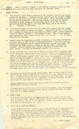Report on successful German firing methods in battle.