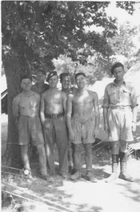 Members of 4th Para Bn, resting at Foggia, Italy, April 1945.