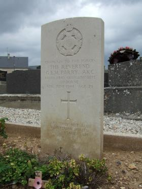 Rev. G Parry Grave in Normandy