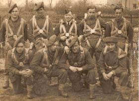 Section of trainees from a course, RAF Ringway, early 1945