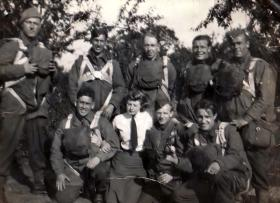Small group photograph of a Stick at Ringway, 1941