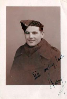 Robert Midwood after being evacuated from Dunkirk, 31 May 1940.