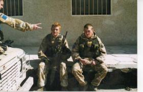 Two members of 2 PARA during Op Telic, Iraq