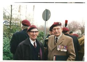 Robert Hill with Colonel 'Tod' Sweeney MC