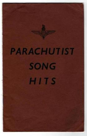 Pages from 'Parachutist Song Hits' book, c1943.