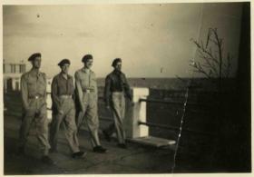 Roma De Lido, 1945 - Eric, Ernie, Steve Kirk and Charlie Rosser