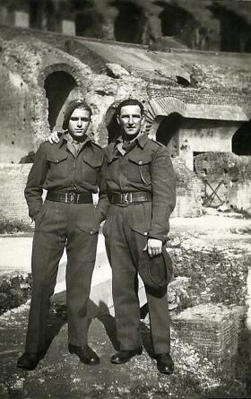 Two members of 4th Para Bn, Rome, Feb 1945.