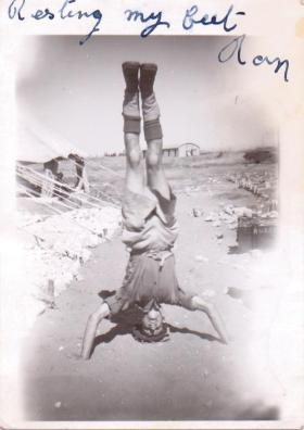 Ron Goodwin in Palestine or Egypt, c1946.