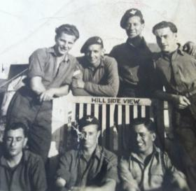 Members of 6th (Royal Welch) Parachute Battalion, at Hillside View, undated.