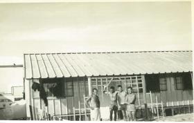 Members of F (Sphinx) Bty, 7 Para Lt Regt RHA, Bahrain c1963.
