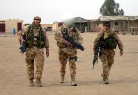 Members of Sniper Platoon, 2 PARA, Op Telic III, Iraq, 2005.