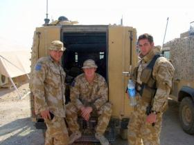 Pte Phillipson, Sgt Scott and Pte Holland-Muter, 2 PARA, Iraq, 2005.