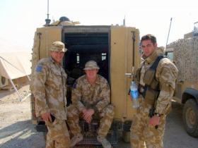 Pte Phillipson, Sgt Scott and Pte Holland-Muter, 2 PARA, Iraq, 2005.