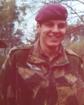 Pte Mark Ross on a German Para Course, May 1978