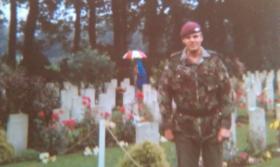 Mark Ross at Arnhem Oosterbeek War Cemetery, September 1983