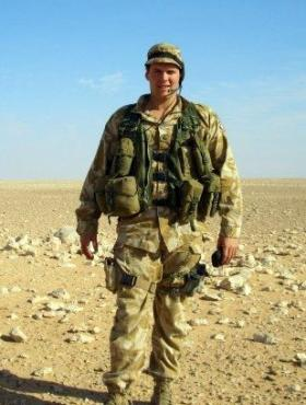 Pte 'Ross' Phillipson, Sniper Platoon, Iraq, 2005.