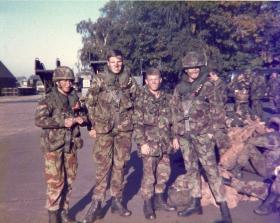 Members of 3 Coy 10 PARA Annual Camp West Germany 1984