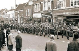 3 Coy 10 PARA march past Remembrance Day 1978