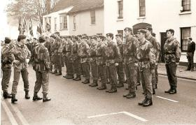 3 Coy 10 PARA Remembrance Day 1978