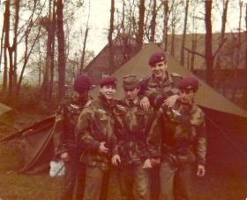 Members of 3 Coy (10 PARA) on German Para Course May 1978