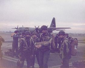 Members of 10 PARA  at RAF Northolt prior to descent onto Hankley Common 1977