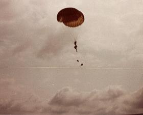 Two members of 10 PARA drop onto Isle of Man June 1979