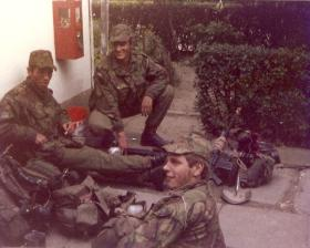 Members of 9 Platoon  3 Coy 10 PARA Annual Camp W Germany 1979